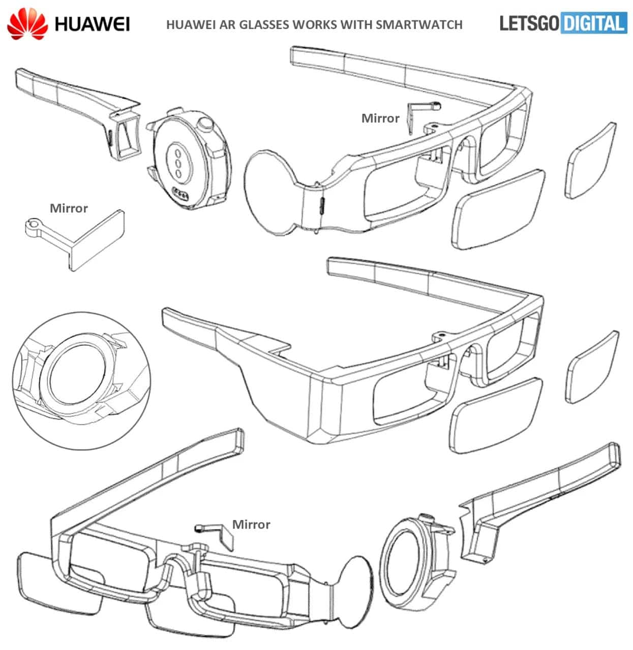 Huawei patented augmented reality glasses