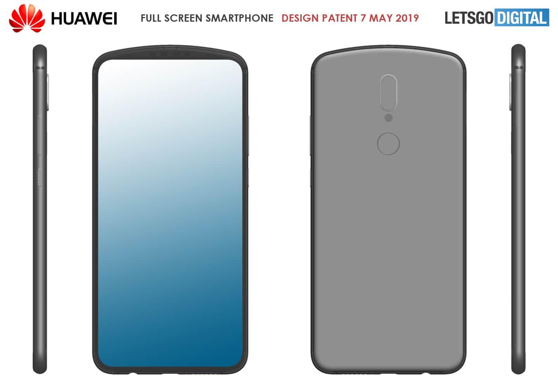 Huawei предложила необычный дизайн смартфона без отверстий и вырезов