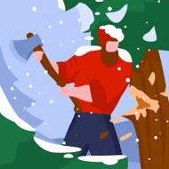 Idle Lumberjack 3D (MOD, много монет)