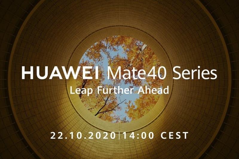 Анонс линейки Mate 40 состоится 22 октября