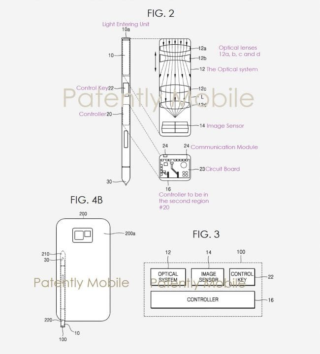 Samsung wants to hide the front camera in the stylus