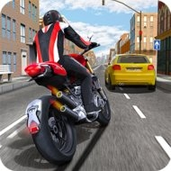Race the Traffic Moto (MOD, money/fuel)