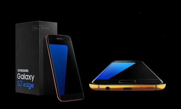 Gold Samsung Galaxy S7 and Galaxy S7 Edge