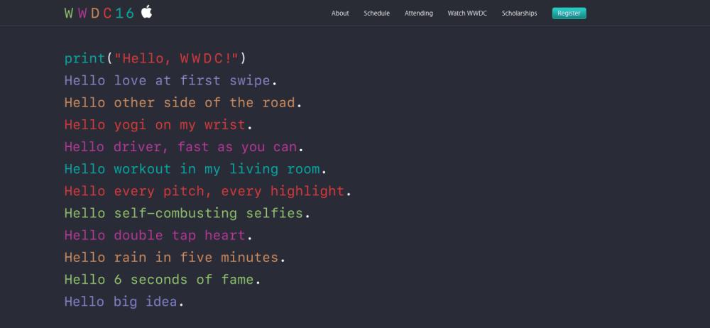 Дата проведения WWDC 2016