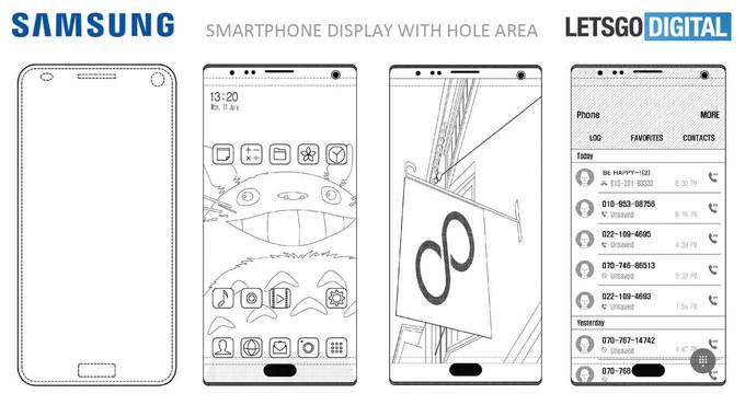 Samsung выпустит смартфон с дисплеем без рамок со всех сторон
