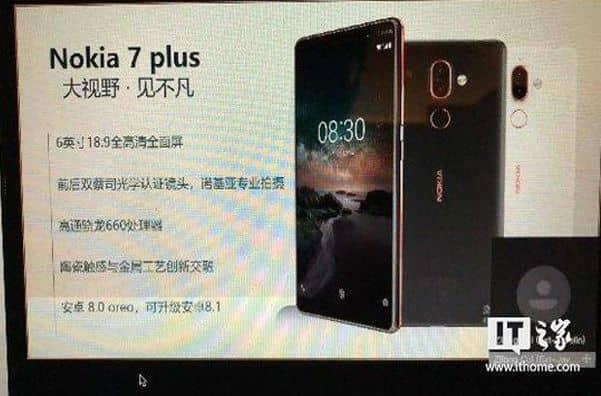Всплыло изображение новой Nokia 7 Plus
