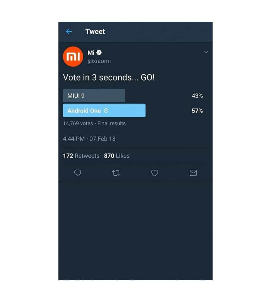 Xiaomi пришлось удалить «проигрышный» опрос