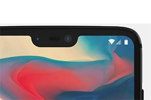In OnePlus 6 you can remove the cutout on the screen