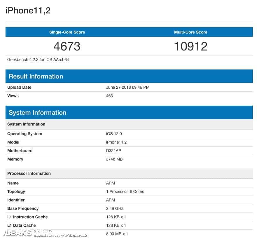 Новый iPhone побил рекорд Geekbench