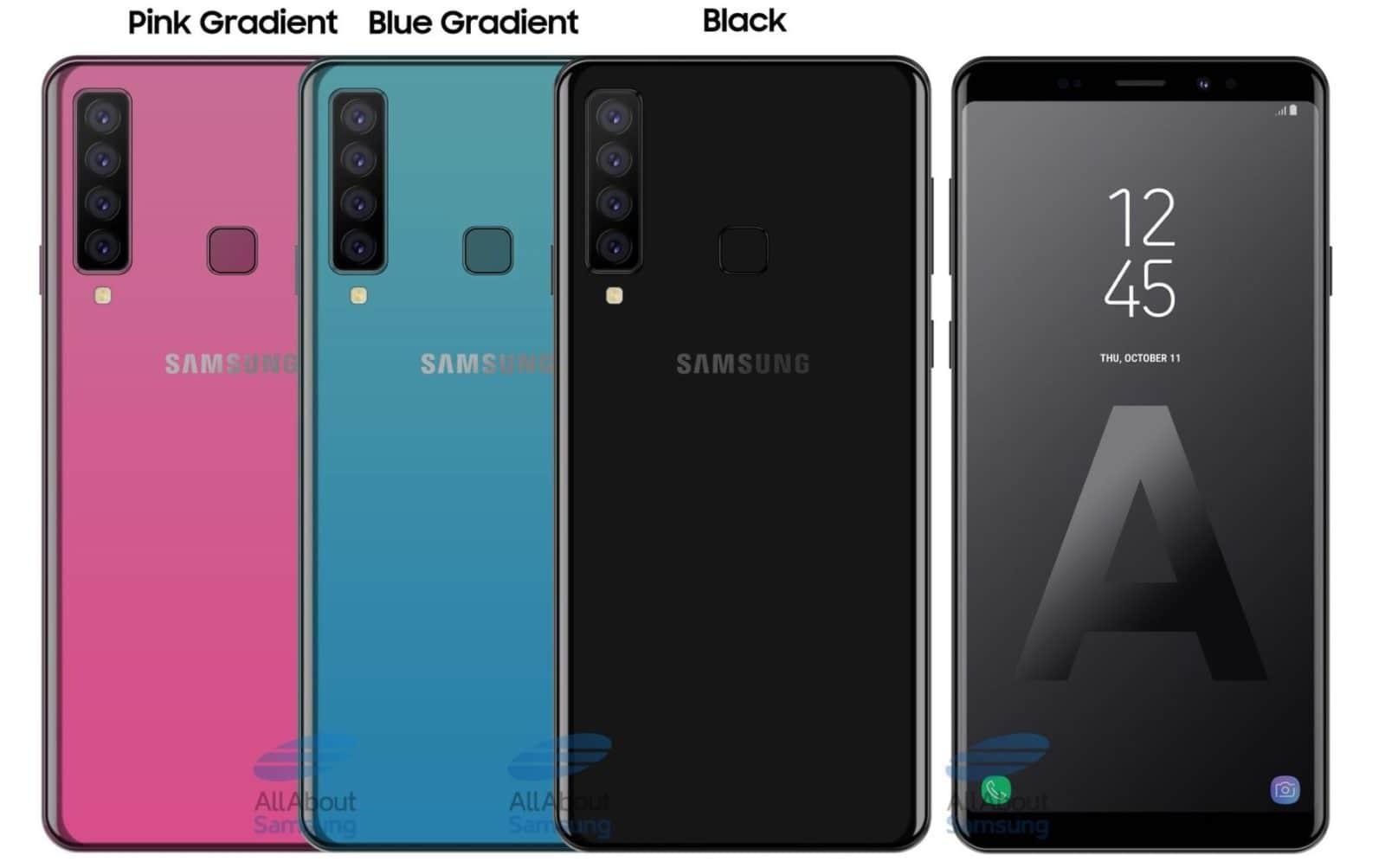 Изображение четырехкамерного неанонсированного смартфона Samsung попало в Интернет