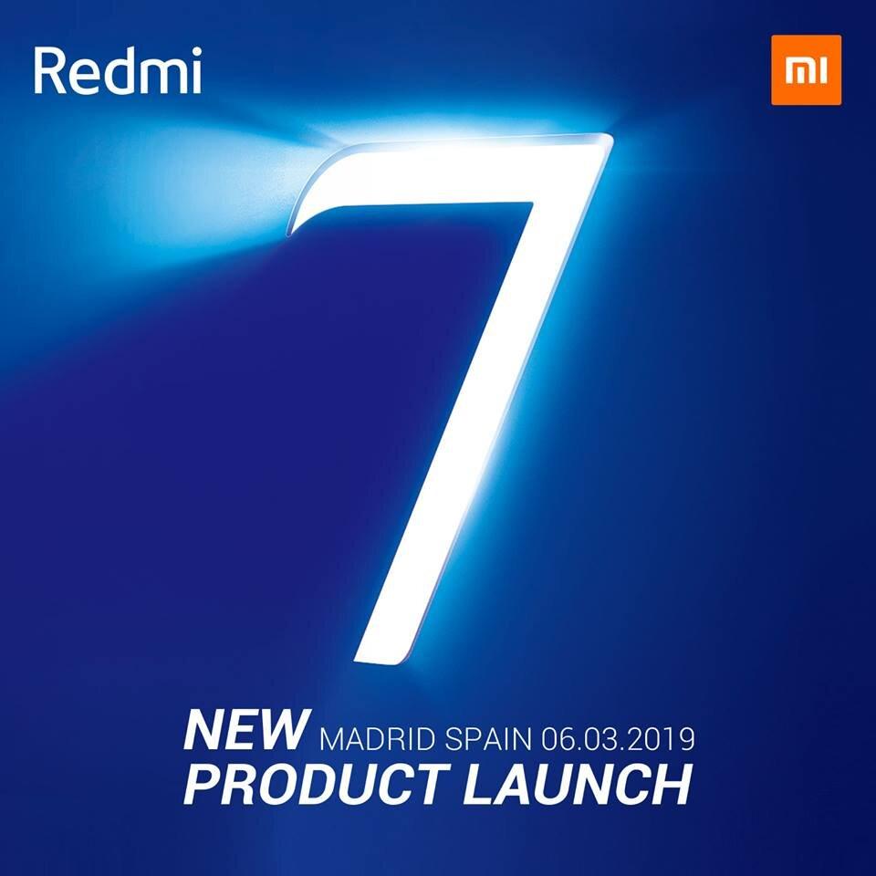 Презентация Redmi 7 состоится сегодня