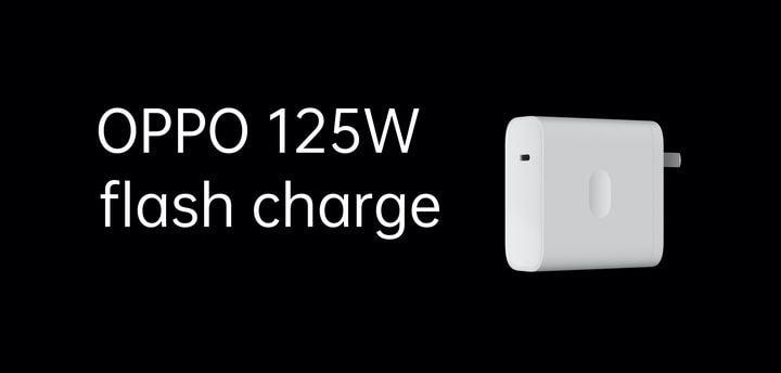 OPPO showed an ultra-fast 125-watt charger
