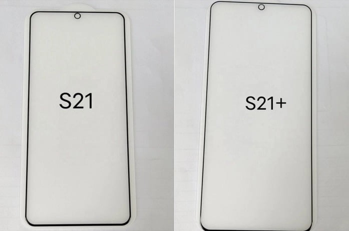 Shots of safety glasses declassified the design of the unannounced Galaxy S21 and S21+