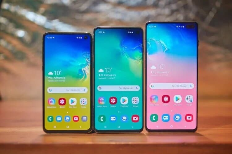 Samsung introduced the flagship line of the Galaxy S10