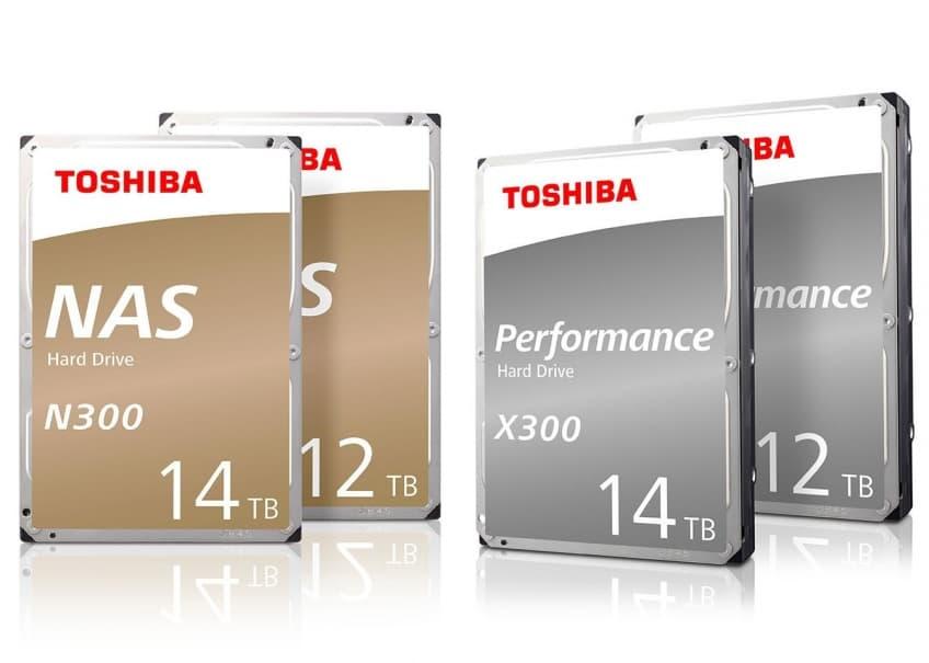 Toshiba анонсировала 12- и 14-террабайтные накопители с гелием