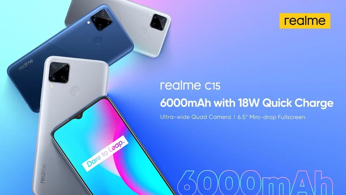 Realme introduced a smartphone with 6000 mAh battery