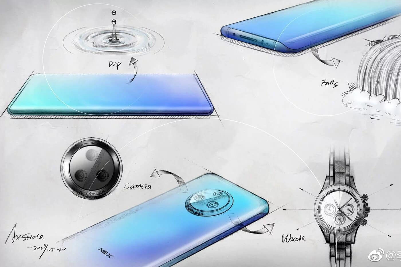 Vivo Product Manager showed sketches of NEX 3 smartphone