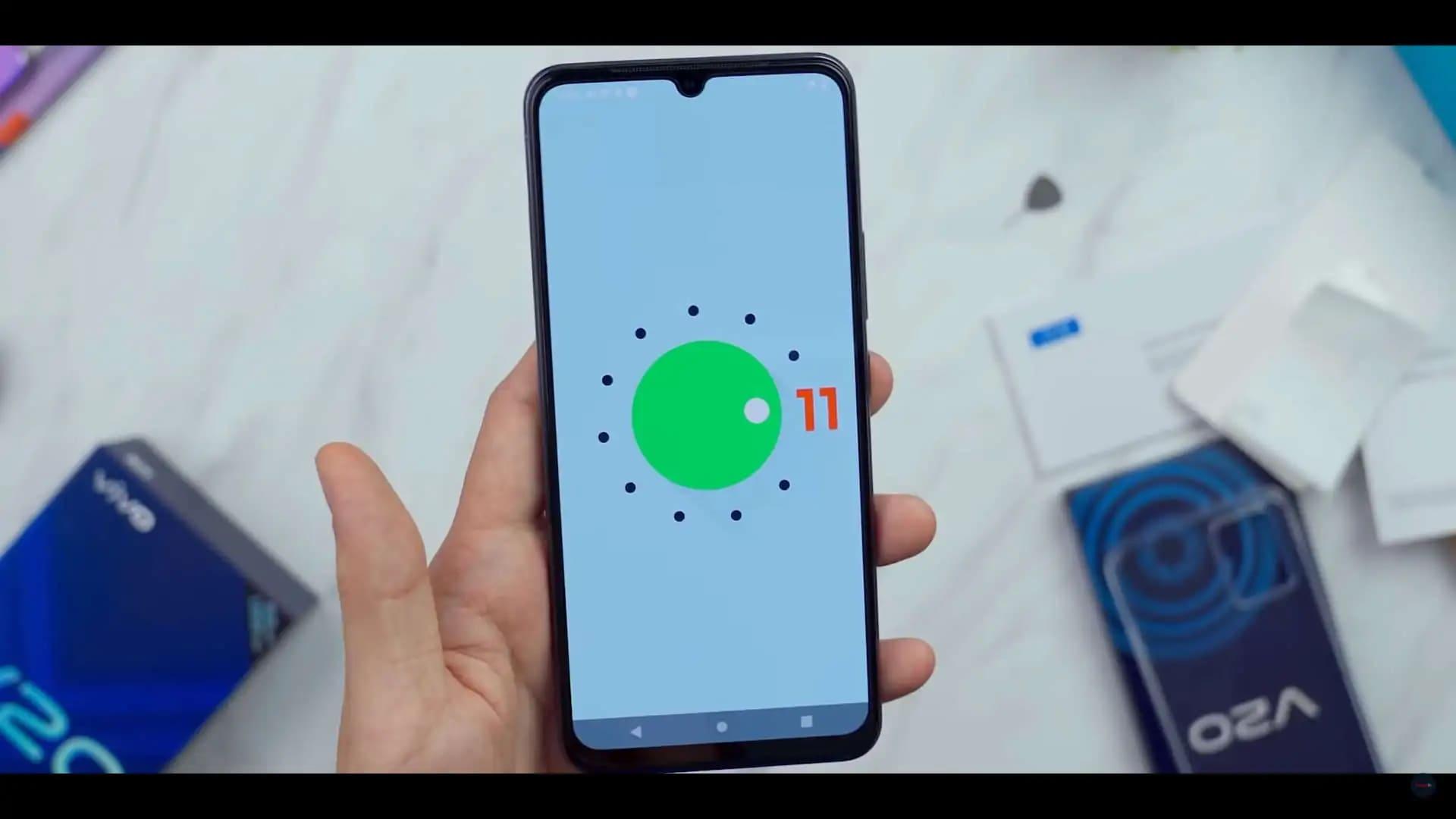 Vivo V20 got Android 11 faster than Google smartphones