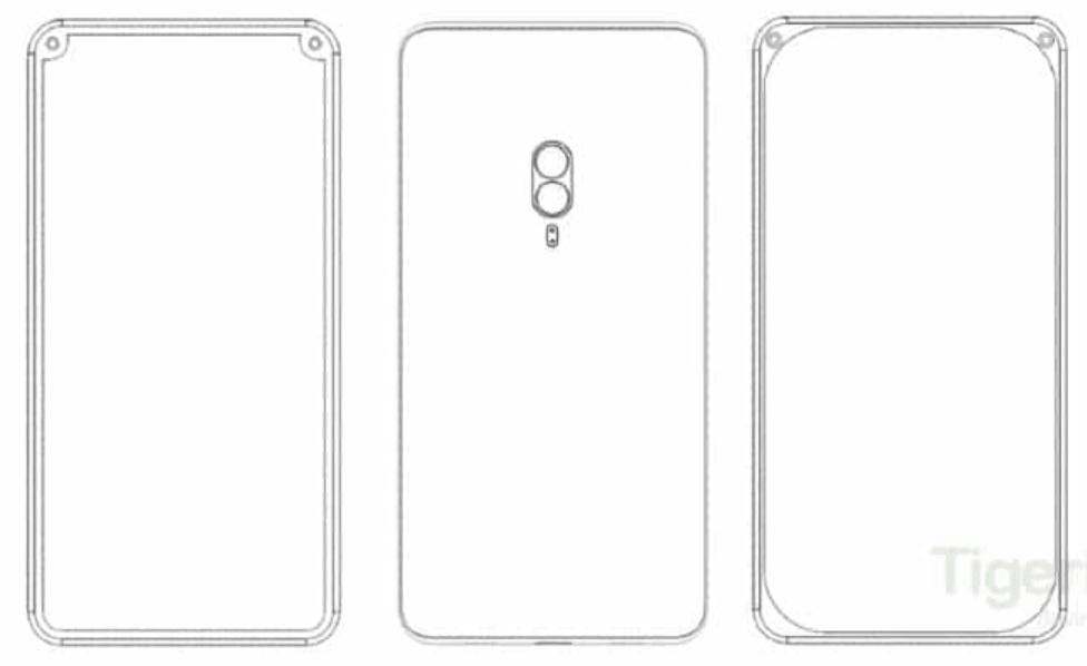 Xiaomi has patented unusual options for the location of the front cameras