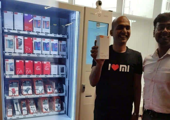 Xiaomi решила реализовывать смартфоны через автоматы
